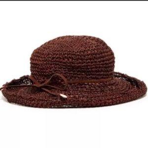 🌴NWT Michael Stars Sea Grass Brown Crusher Hat